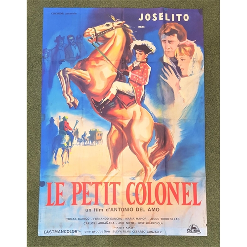 253 - TWO FRENCH GRANDE FILM POSTERS comprising 'Le Petit Colonel' (The Little Colonel), 1960, 43.5