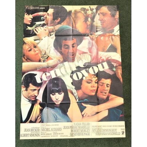262 - EIGHT FRENCH GRANDE FILM POSTERS comprising 'Requiem pour un Caid', 1964, 44.75