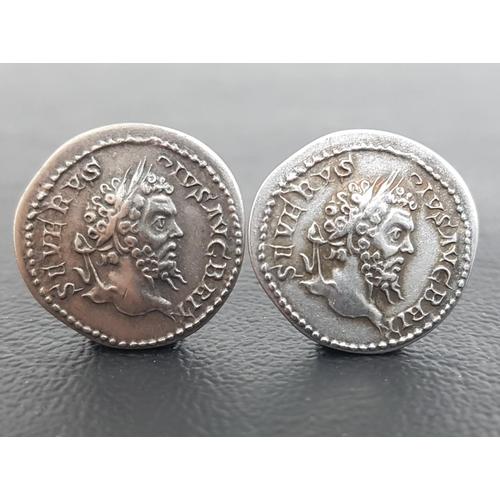 363 - TWO REPLICA AD 193-211 SEPTIMIUS SEVERUS AR DENARIUS SEVERVS PIVS AVG BRIT, laureate head right / VI...