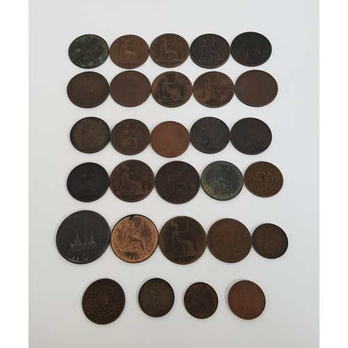 364 - SELECTION OF VICTORIA YOUNG HEAD COINS including 1895 one cent, 1888 one penny, 1881 one penny, 1885...