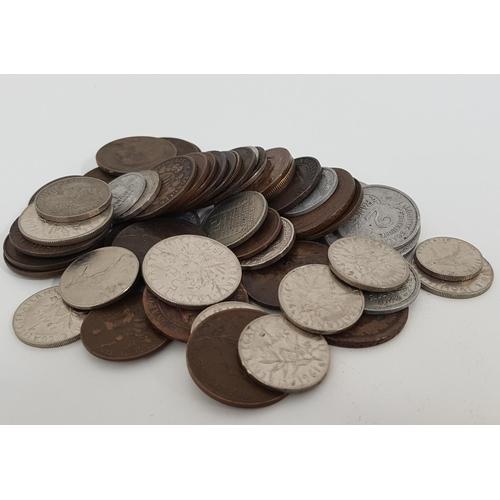 373 - SELECTION OF REPUBLIQUE FRANCAISE COINS including 10 Francs, 25 Centimes, 1 Franc, 10 Centimes, 5 Ce...