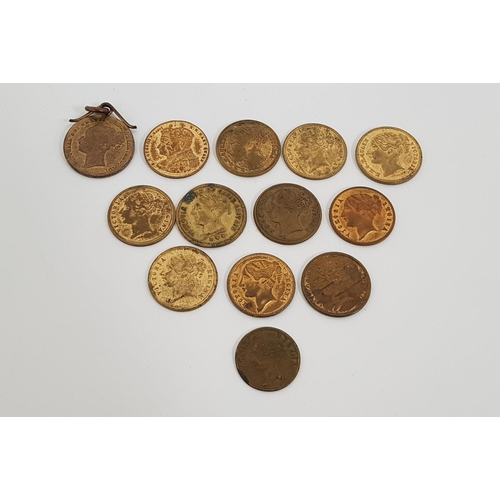 376 - EIGHT VICTORIA TO HANOVER TOKENS toether with silver jubilee coin, keep your temper coin, and 3 othe...