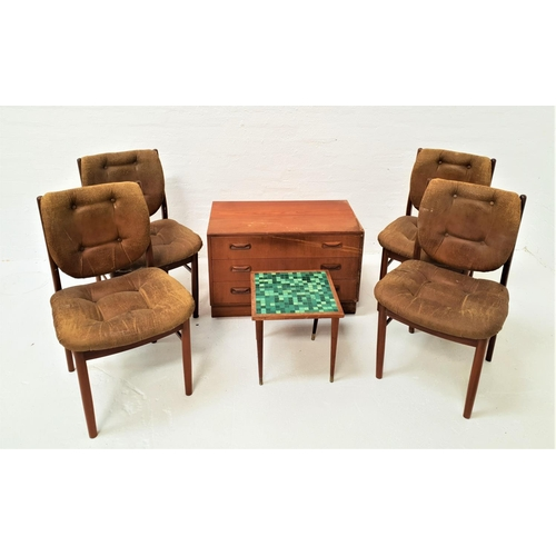 480 - SELECTION OF RETRO TEAK FURNITURE comprising a G Plan chest of three drawers, one with cutlery divis...