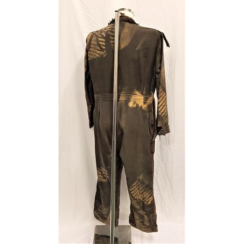 1 - WATERWORLD (1995) - DISTRESSED 'BOAT PEOPLE' SMOKER JUMPSUIT  Gents Dark grey jump suit, been distre...