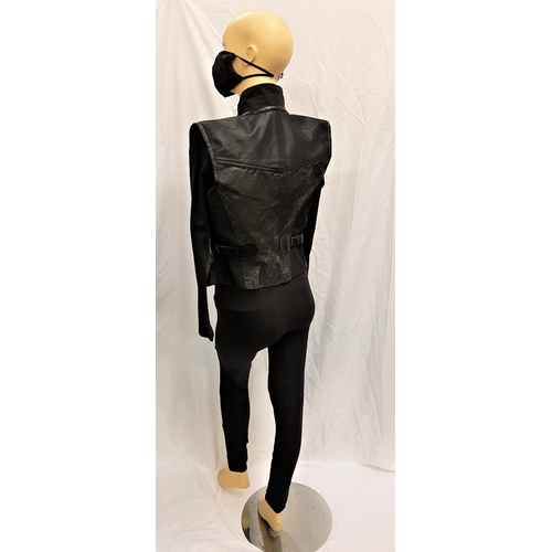 8 - ULTRAVIOLET (2006) - JAPAN GIRL FOUR PIECE COSTUME  black polyester leggings, face mask, a cropped b...