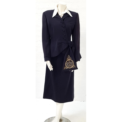 12 - EVITA (1996) - EVA PERON'S NAVY THREE PIECE SUIT - PLAYED BY MADONNA Made by 20th Century props, com...