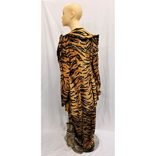 13 - VELVET GOLDMINE (1998) - MANDY SLADE'S TIGER PRINT SUIT AND GOLD SEQUINNED BOOTS - PLAYED BY TONI CO...