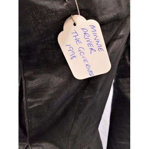 25 - THE GOVERNESS (1998) - ROSINA DA SILVER'S BLACK DRESS - PLAYED BY MINNIE DRIVER Custom made black fu...