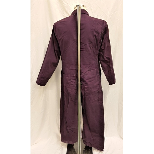 28 - THE ADVENTURES OF ROCKY & BULLWINKLE (2000) - RBTV JUMPSUIT AND SHIRT Gents 100% cotton, purple died...