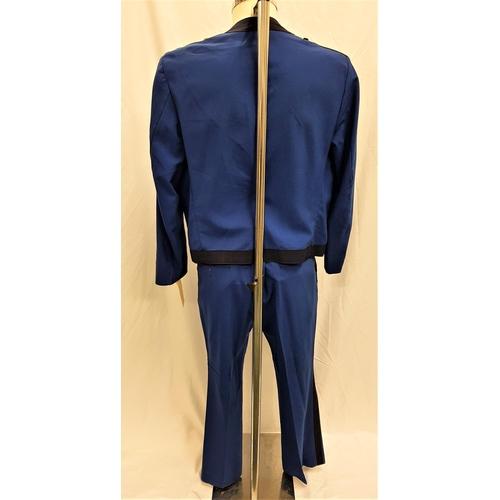 39 - THE RAT PACK ERA HANDMADE STARDUST BELLHOP UNIFORM  the royal blue bellhop uniform made by Apple+Bro...