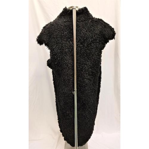 48 - THE FLINTSTONES (1994/2000) - MEN'S FAUX FUR COSTUME the large black faux fur sleeveless coat with a...