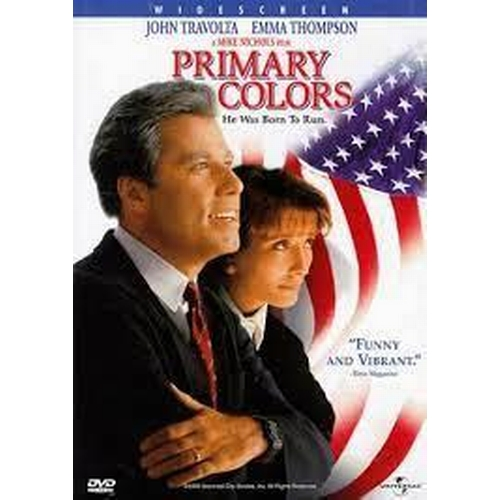 26 - PRIMARY COLORS (1998) - THREE COSTUME ITEMS  comprising MAMMA STANTON'S BLACK AND WHITE SNAKESKIN HE...