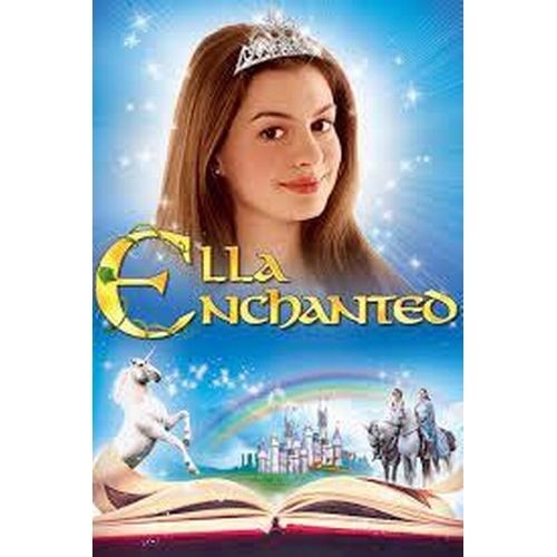 46 - ELLA ENCHANTED (2004) - FOUR PIECE OUTFIT  comprising a navy blue velvet and patterned jacket design...