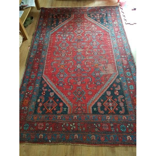 3 - Persian Pure Wool Ground Rug with Floral Decoration 45 Inches Wide x 90 Inches Long...