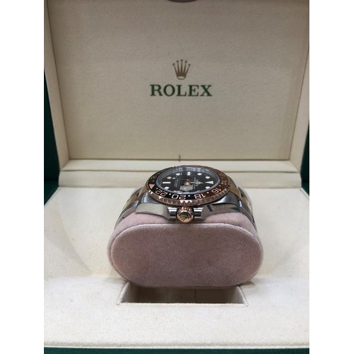53 - Rolex GMT-Master II Rootbeer Rose Gold Oyster Perpetual 126711CHNR  In mint condition all original p...