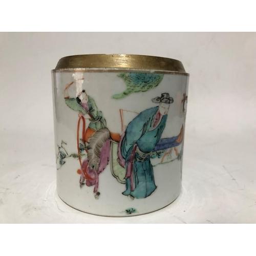 27 - Chinese Daoguang Period Jar Mandarin Lady Pattern
