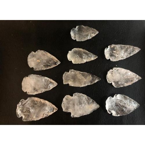 45 - 10 Crystal Arrow Heads
