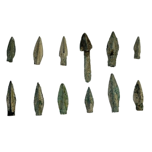 1 - Greek period bronze arrow heads during the 1st millennium BC Greek period bronze arrow heads duri...