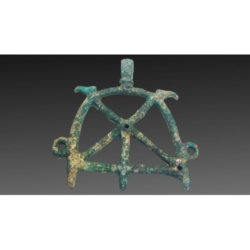 12 - bronze horse attachment from luristan period 1st millennium BC