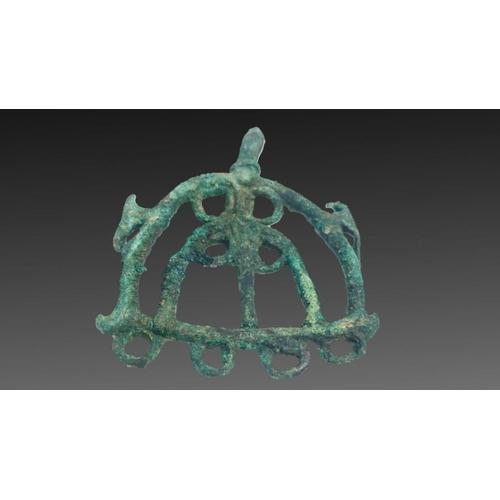 17 - bronze horse attachment from luristan period 1st millennium BC