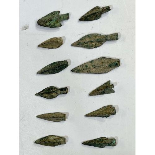 19 - Greek period bronze arrow heads during the 1st millennium BC