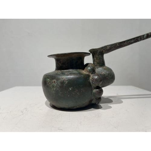 3 - Elamite period ceremonial pouring copper pot 1st millennium BC