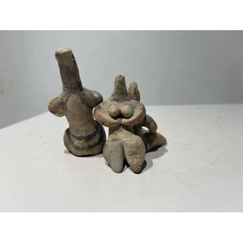 35 - 2nd millennium BC clay figurines of mother goddesses of ancient Near East