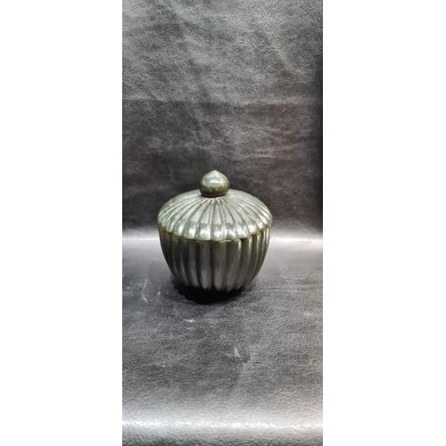 39 - Indian Mughal Spinach Jade Ribbed Bowl