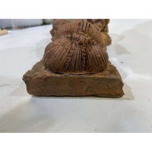 45 - Large Indian Terracotta Buddha Figure Plaque