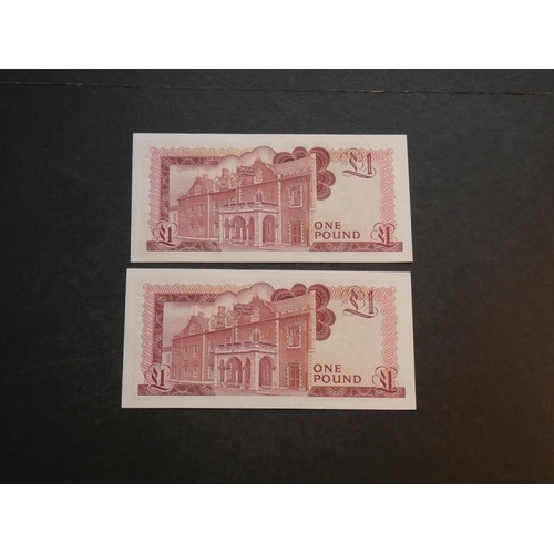 29 - GIBRALTAR.  £1, 4.8.1988, P-20e, consecutive numbered pair, UNC  (2)...