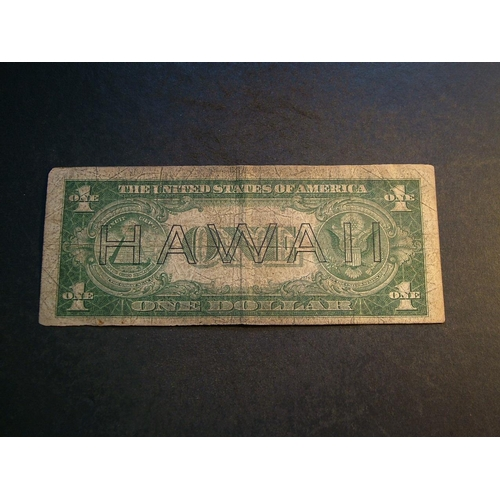 32 - HAWAII.  USA Territorial Treasury.  USA, $1 silver certificate, series 1935A, brown seal and serial ...
