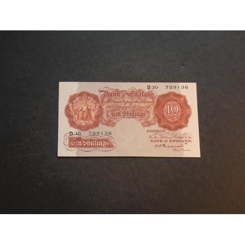 56 - 10 Shillings, PEPPIATT, Dug.B235 (BE22c), D30 709136, EF...