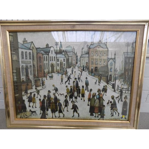 10 - LS Lowry 1930 picture-crack to glass...