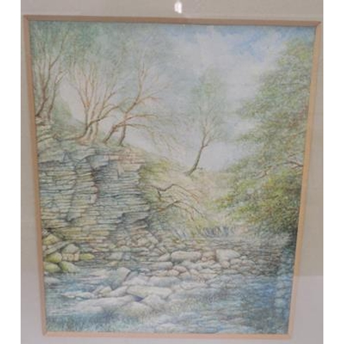 11 - Unsigned watercolour painting...
