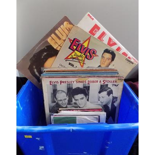 52 - Collection of Elvis records LP's & singles...