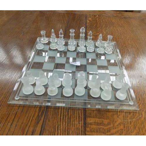526 - Glass chess set...