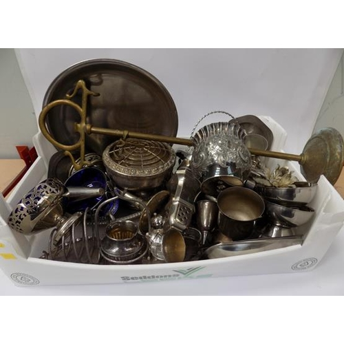 7 - Box of vintage silver plated ware...
