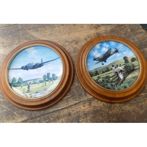 13 - 2x Royal Doulton plates - depicting aircraft during WWII...