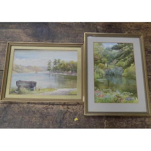 22 - 2x watercolours by E.O Scott - signed...