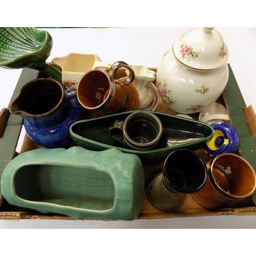 31a - Large box of pottery & ceramics...