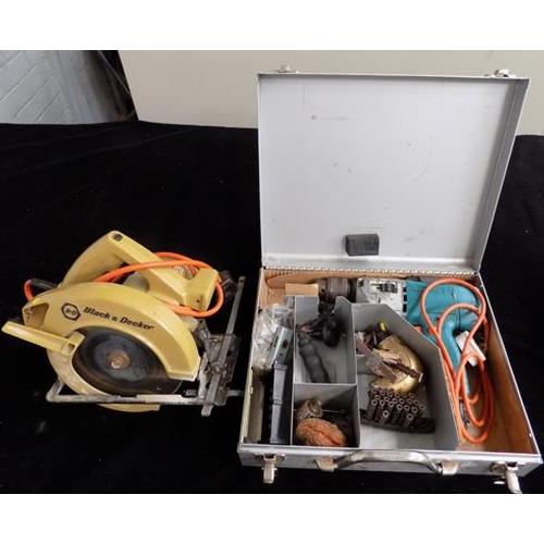 483 - Circular saw & electric drill in case...