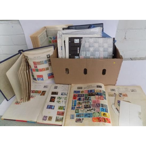 4 - A collection of mixed stamps; including stock books...