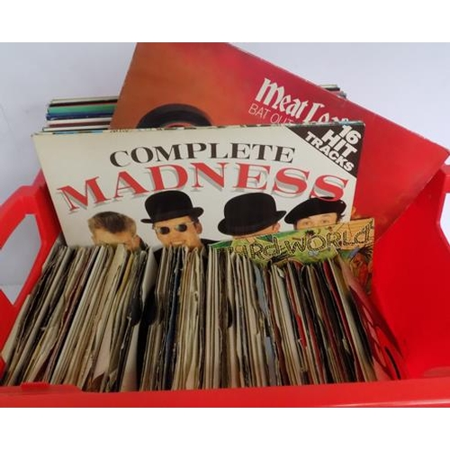 44 - A box of LP vinyl records; including Soul, Motown, Pop and Rock - various artists...