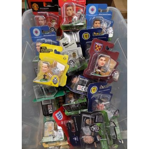 56 - A box of approximately forty Soccer Starz figures...