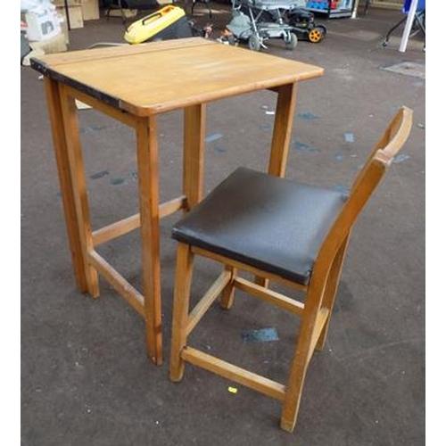 502 - Victorian child's desk & stool...