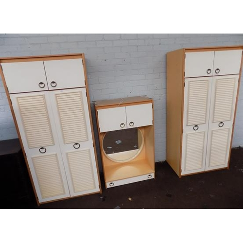 503 - 3 piece bedroom units set - requires assembly...