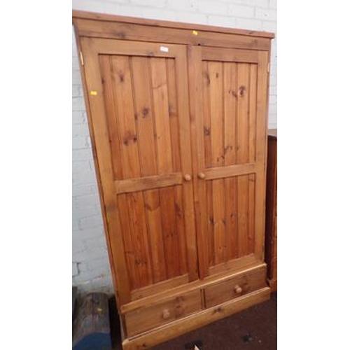 501 - Double pine wardrobe...