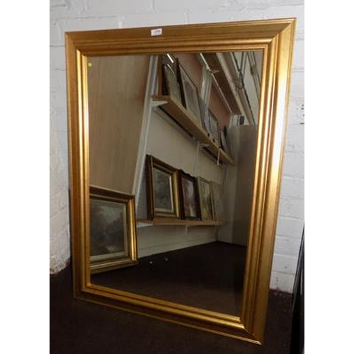 29a - Large framed mirror 40 inches x 30 inches...