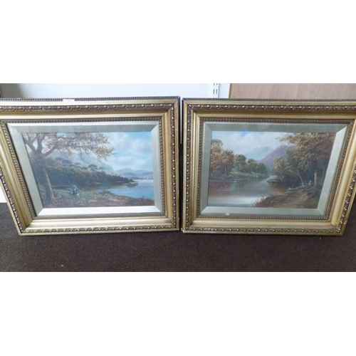 30 - Pair of vintage framed oils. Approx 25