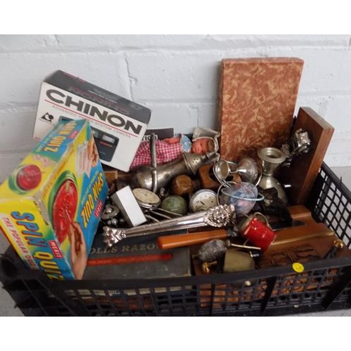 5 - Collection of vintage items incl. brass, pocket watches, lighters, etc...